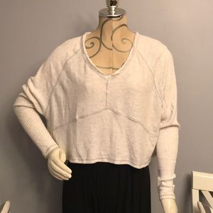 Urban outfitters crop top rib long sleeve xs